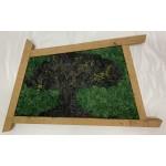 Mechový obraz 70*40*3 - sobí mech - dřevěný rám nebarvený