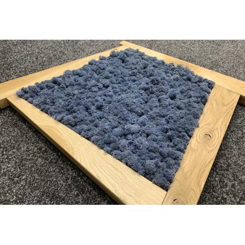 Mechový obraz  63*55*4 - sobí mech - dřevěný rám nepravidelný